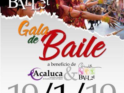 GALA DE BAILE BENÉFICA a beneficio de: ASOCIACION CAUDETANA DE LUCHA CONTRA EL CANCER y ANNABETH BALLET